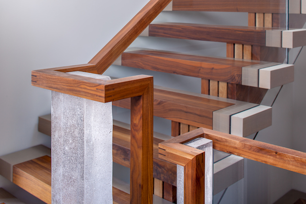 Custom staircase handrail detail