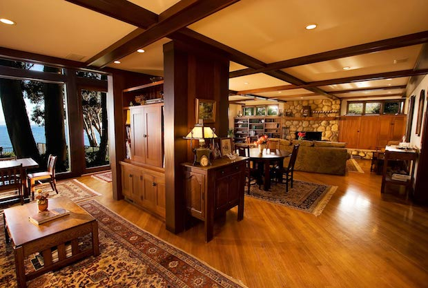 Great room with built-in chest by B. David Levine