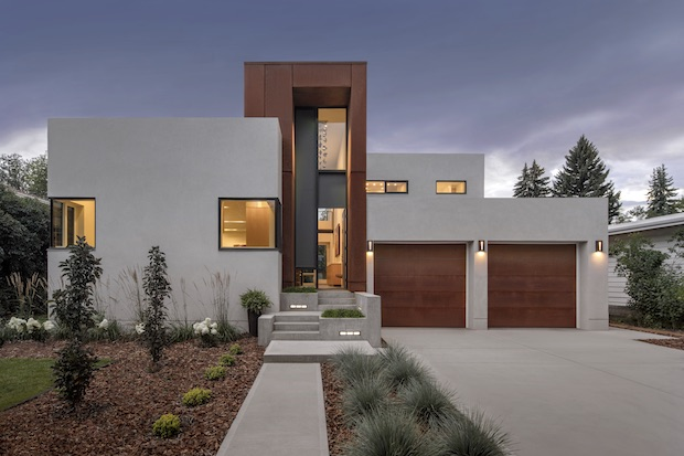 Exterior of Modern Alberta Home