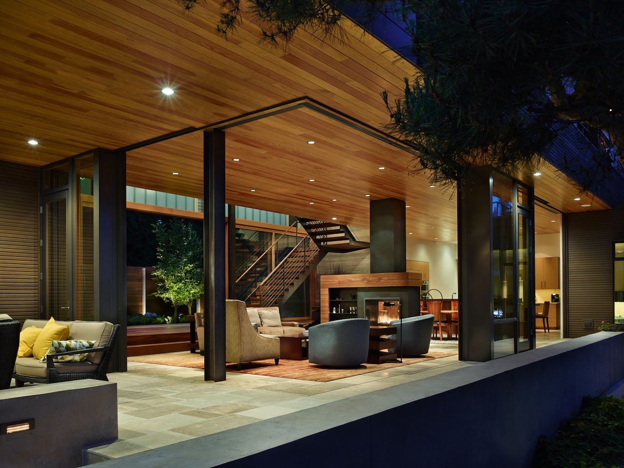 Contemporary Lakefront House