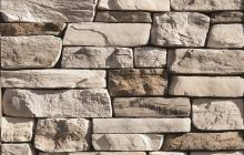 Whitebark ledger stone wall