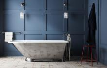 Drummond tub with sloped end