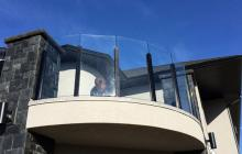 Excell's glass railing post