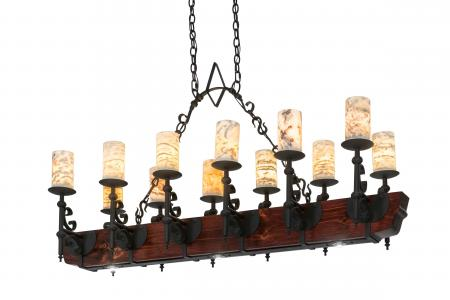 Chandelier custom builder the new tudor chandelier from meyda custom lighting offers 12 jadestone faux candlelights atop scroll steel bobches with a wrought iron finish aloadofball Choice Image