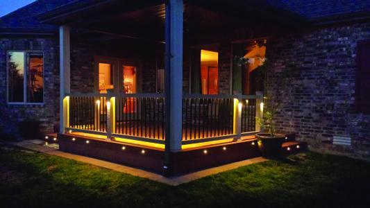 Moisture shield deck lights