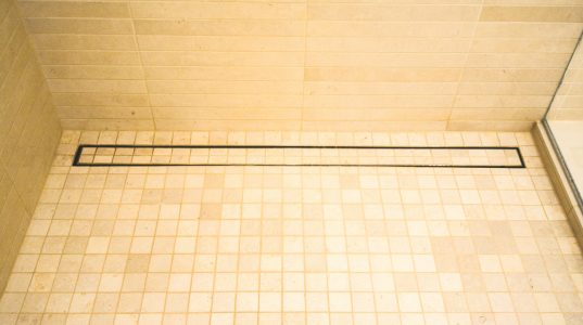 Luxe linear shower drain tile insert custom builder luxe offers this linear shower drain option with tile insert as a decorative option for any shower the drains are available in six standard sizes ppazfo