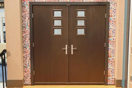 Pulse contemporary doors custom builder for Therma tru pulse