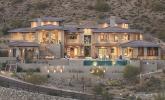 Exterior, dusk, of hillside home in Phoenix, Ariz. by Cullum Homes